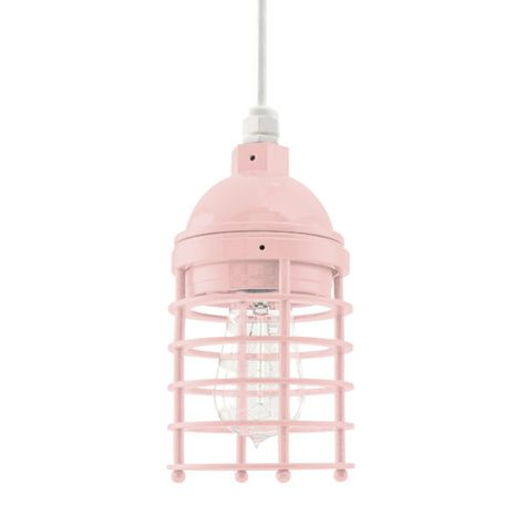 Static Ring Pendant, 480-Blush Pink, No Glass, SWH-Standard White Cord, Nostalgic Edison 1890 Era Bulb