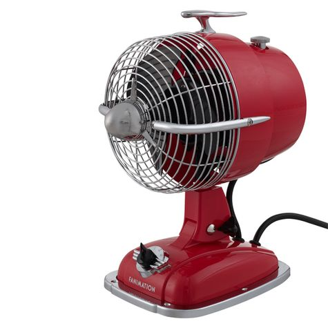 Emmett Table Fan, Spicy Red