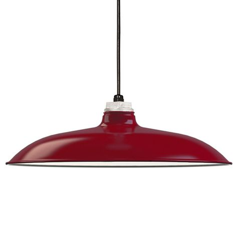 "16"" Porcelain Cherry Red Draftsman Shade"