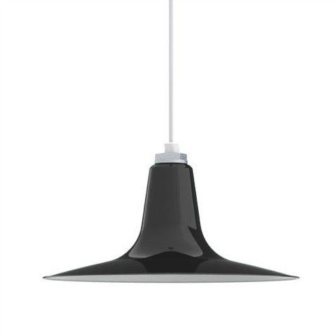 Porcelain Black Sterling Deep Cone Shade
