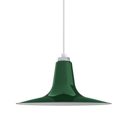 Porcelain Vintage Green Sterling Deep Cone Shade