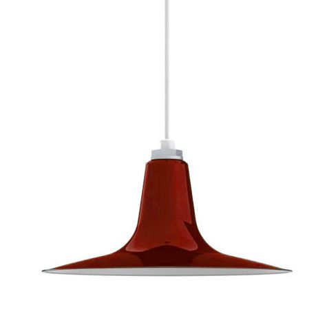 Porcelain Cherry Red Sterling Deep Cone Shade