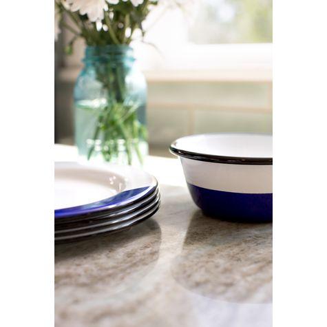 Enamelware Dipped Bowl, 750-Cobalt