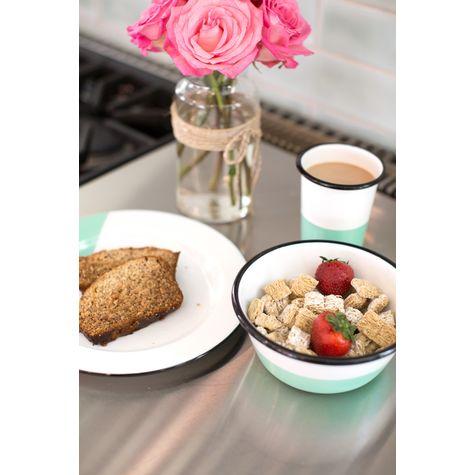 Dipped Enamel Breakfast Set, 355-Jadite