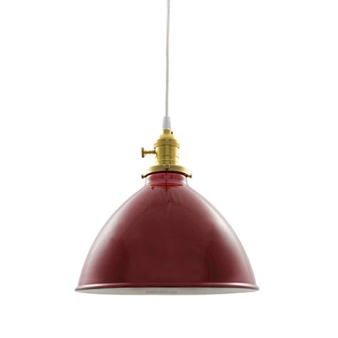 """8"""" Porcelain Cherry Red Gladstone Shade"""