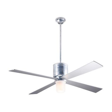 Lapa Ceiling Fan, Galvanized, Silver Blades, Light Option