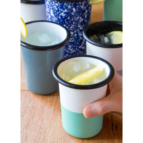 12 oz. Enamel Dipped Tumbler, 355-Jadite | Courtesy of A Spicy Perspective
