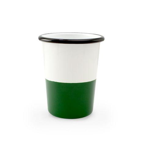 12 oz. Enamel Dipped Tumbler, 350-Vintage Green