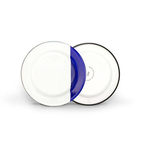 Enamel Dipped Dessert Plate, 750-Cobalt Blue