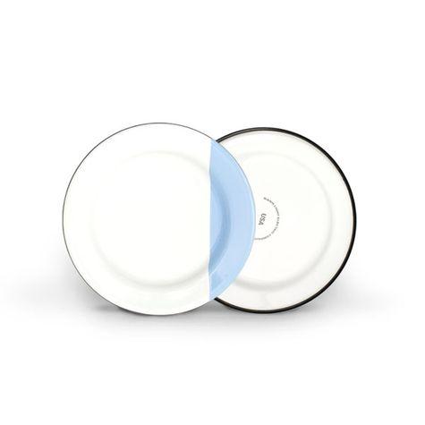 Enamel Dipped Dessert Plate, 765-Delphite