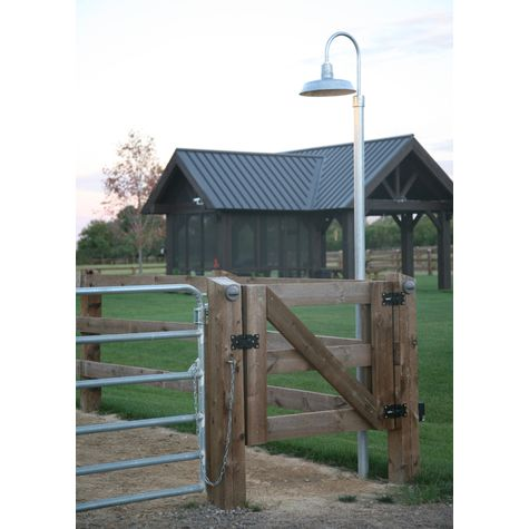 "16"" Sky Chief, 975-Galvanized, Single Post Mount, 975-Galvanized, 10' Smooth Direct Burial Pole, 975-Galvanized"