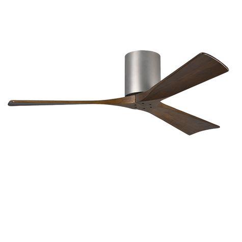 "The Zora 3 Blade Ceiling Fan, Brushed Nickel, 52"" Diameter"
