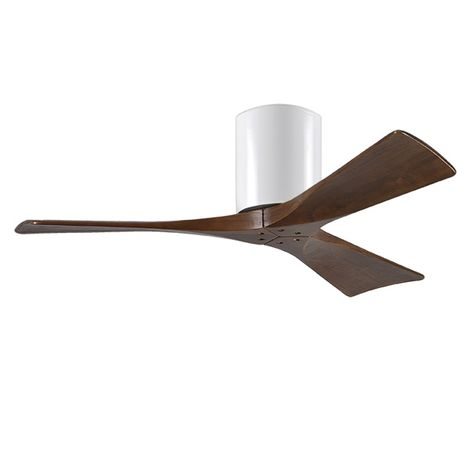 "The Zora 3 Blade Ceiling Fan, Gloss White, 42"" Diameter"