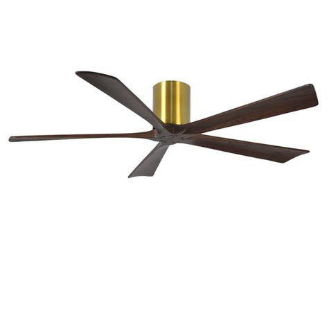 "The Zora 5 Blade Ceiling Fan, Brushed Brass, 60"" Diameter"