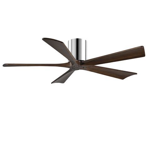 "The Zora 5 Blade Ceiling Fan, Polished Chrome, 52"" Diameter"