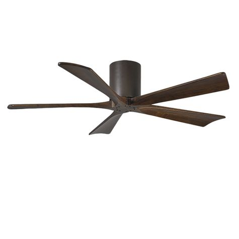"The Zora 5 Blade Ceiling Fan, Textured Bronze, 60"" Diameter"