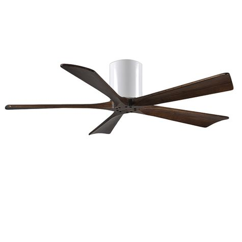 "The Zora 5 Blade Ceiling Fan, Gloss White, 60"" Diameter"