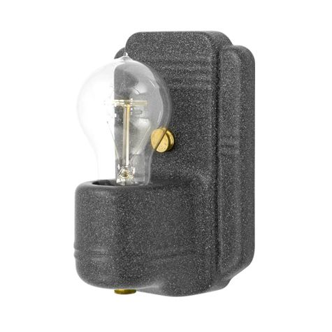 The Kao Wall Sconce, 805-Charcoal Granite, Nostalgic Edison-Style Victorian 25W Light Bulb