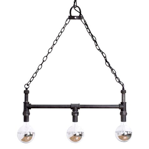 Percy Machine Age Chandelier, With Wire Cages, Half-Chrome Bulbs