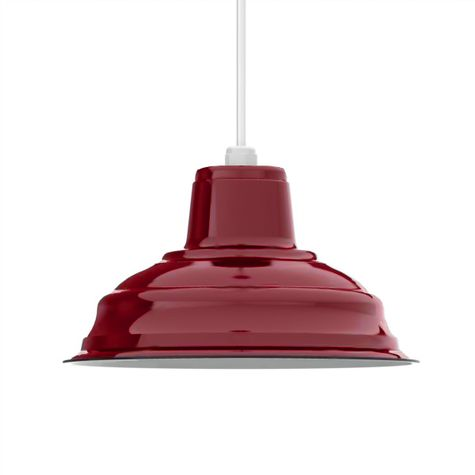 """11"""" Porcelain Cherry Red Shade"""