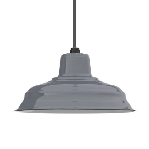"13"" Porcelain Graphite Bomber Shade, No Hex"