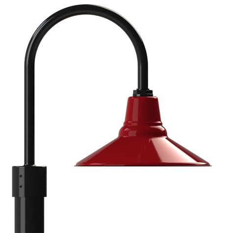 "14"" Aero, 455-Cherry Red, Single Post Mount, 100-Black, Smooth Direct Burial Pole, 100-Black"