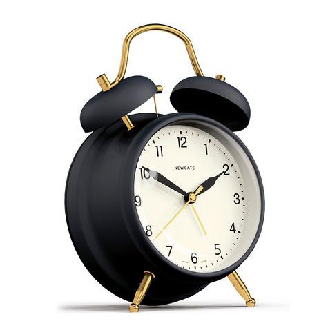 Brass Knocker Alarm Clock, Matte Petrol Blue
