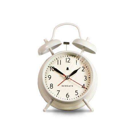 Covent Garden Alarm Clock, Matte Linen White