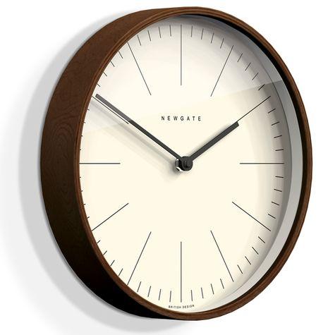 The Mr. Clarke Clock, Large, Dark Stain Case, Fine Marker Dial