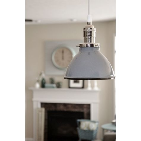 """6"""" Gladstone, 850-Graphite, Nickel Socket with No Switch, SWH-Standard White Cord 