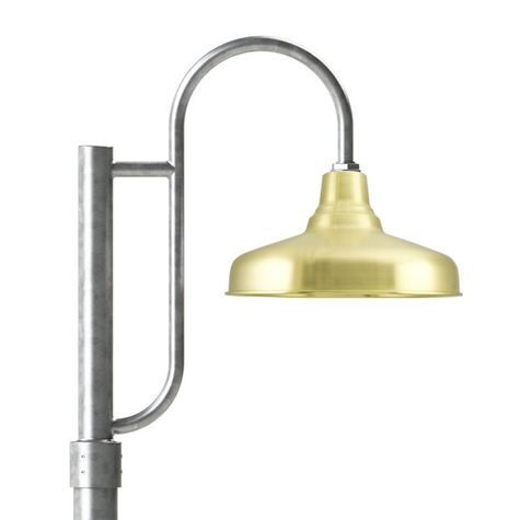 "14"" Union, 997-Raw Brass, Single Decorative Post Mount, 975-Galvanized, Smooth Direct Burial Pole, 975-Galvanized"