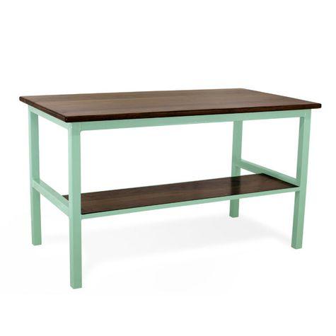 Brady Standing Desk (back), NW-Natural Walnut, 311-Jadite