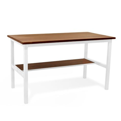 Brady Standing Desk, MP-Mahogany Pine, 200-White