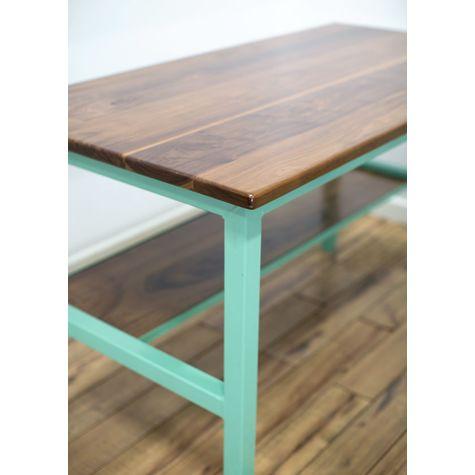 Brady Standing Desk, NW-Natural Walnut, 311-Jadite