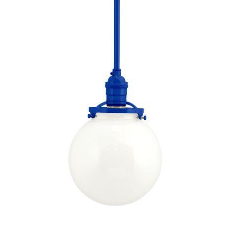 The Bubble Stem Mount, 700-Royal Blue, White Globe