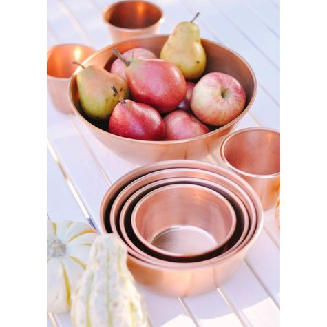 Copper Bowls | Courtesy of Love+Specs