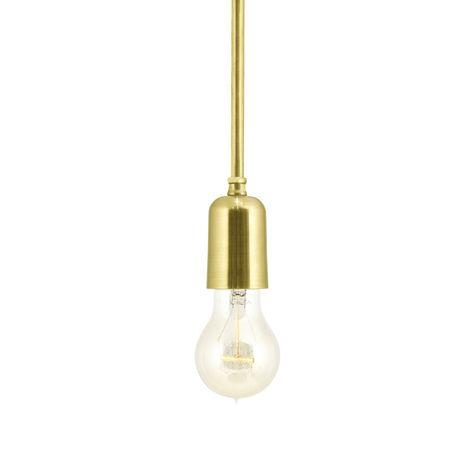 The Downtown Minimalist Stem Mount Pendant, 997-Raw Brass, Edison-Style Victorian Bulb