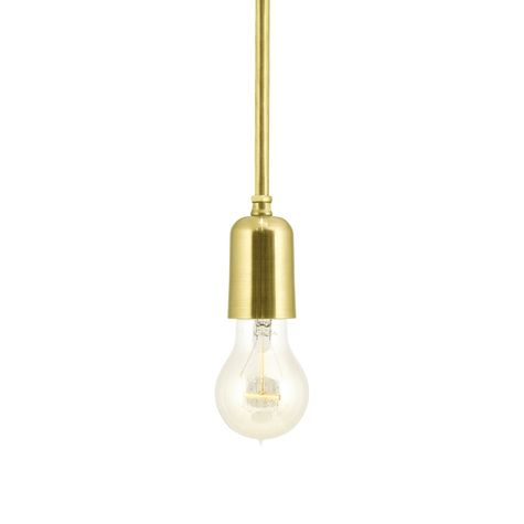 The Downtown Minimalist Stem Mount Pendant, 997-Raw Brass, Edison-Style Victorian Bulb