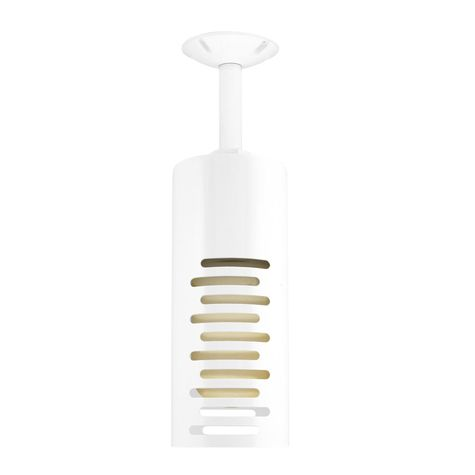 Venice LED Stem Mount, 200-White, Stacked Slots, HCR-Honey Crackle Glass