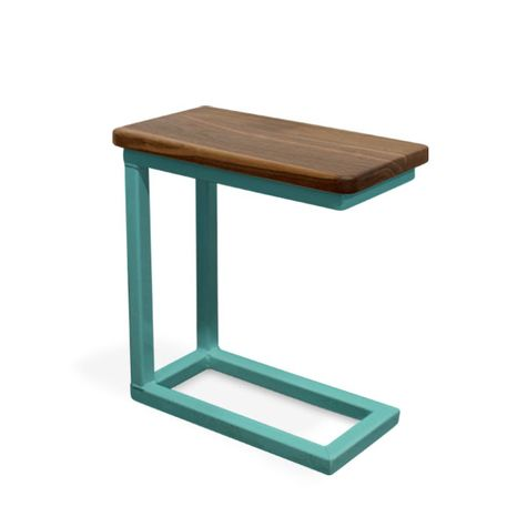 Magnolia End Table, MP-Mahogany Pine, 390-Teal