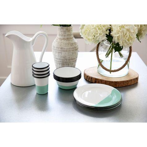 Dipped Enamel Breakfast Set, 355-Jadite | Photo Courtesy of The Sunny Side Up Blog