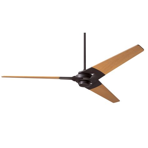 Torsion Ceiling Fan, Dark Bronze, Maple Blades