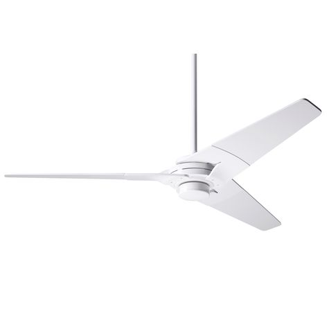Torsion Ceiling Fan, Gloss White