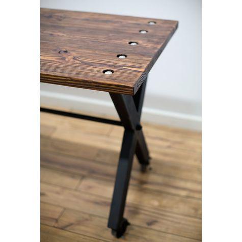 Theo Standing Desk, DO-Distressed Oak, 100-Black