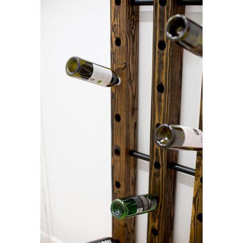 Margot Wine Rack, DO-Distressed Oak, 100-Black (Close Up)
