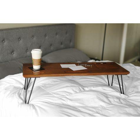 Carmen Lap Desk, NMO-Nutmeg Oak, 100-Black