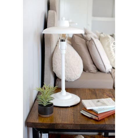 The Maritime Retro Desk Lamp, 200-White (Also Pictured: The Remy End Table)