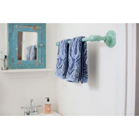 Industrial Towel Bar, Large, 311-Jadite