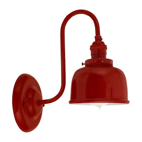 Fargo Wall Sconce, 400-Barn Red Shade and Mounting, No Switch