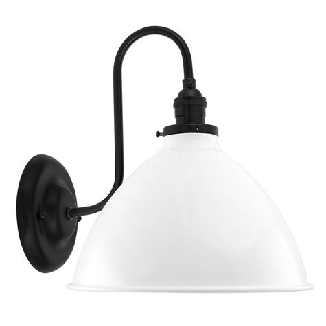 """8"""" Getty Sconce, 200-White, Mounting in 100-Black"""